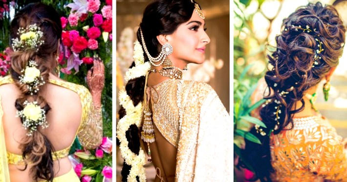 30 Best Indian Bridal Hairstyles Trending This Wedding Season! - Blog for Bun Hairstyle For Indian Marriage