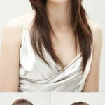 Asian Straight Layered Hair With Side Bangs Asian Side Swept Bangs for Asian Hairstyles With Side Bangs