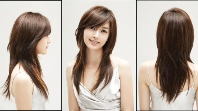 Beautiful Haircuts For Long Hair Oval Face   Just Hair   Oval Face with Asian Hairstyles With Side Bangs