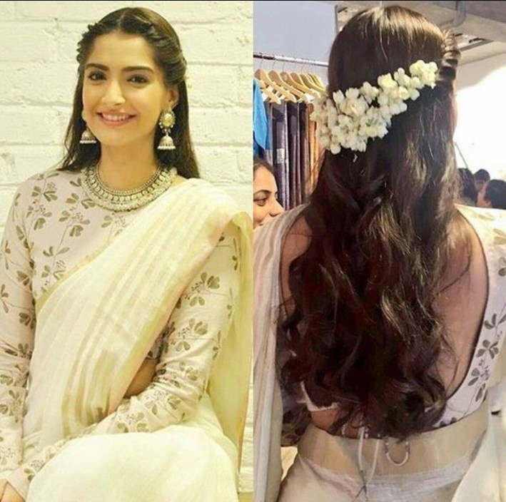 Beautiful, Modem Way Of Putting Jasmine Flowers In Hair | Wedding pertaining to Casual Indian Hairstyles For Medium Hair