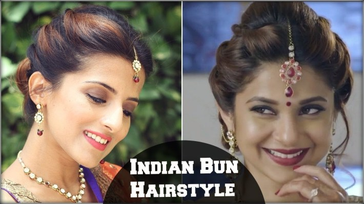Beyhadh- Jennifer Winget's Easy Bun Hairstyle For Indian Wedding Occasion &  Party For Medium Hair throughout Bun Hairstyle For Indian Wedding Function