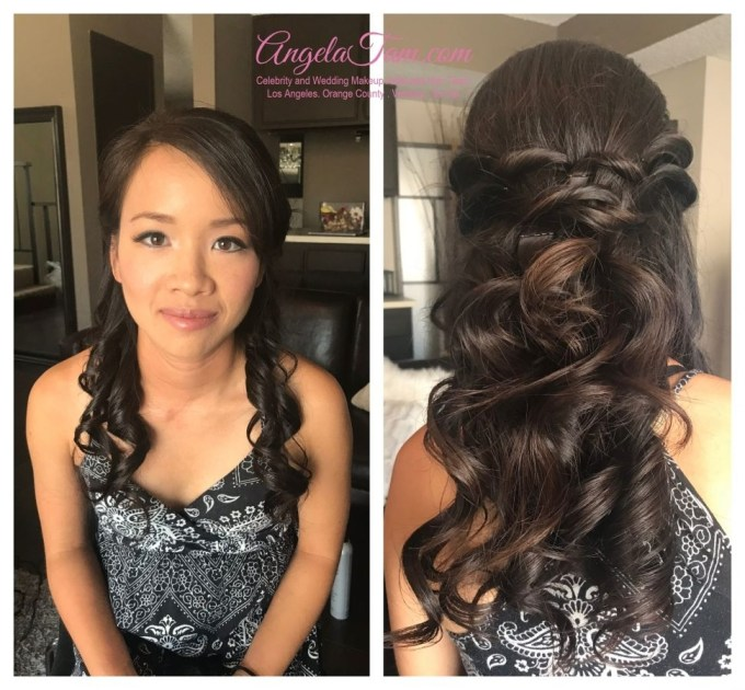 Hairstyles : Rosalie Asian Bride Soft Natural Makeup And Half Updo in Asian Half Up Hairstyles