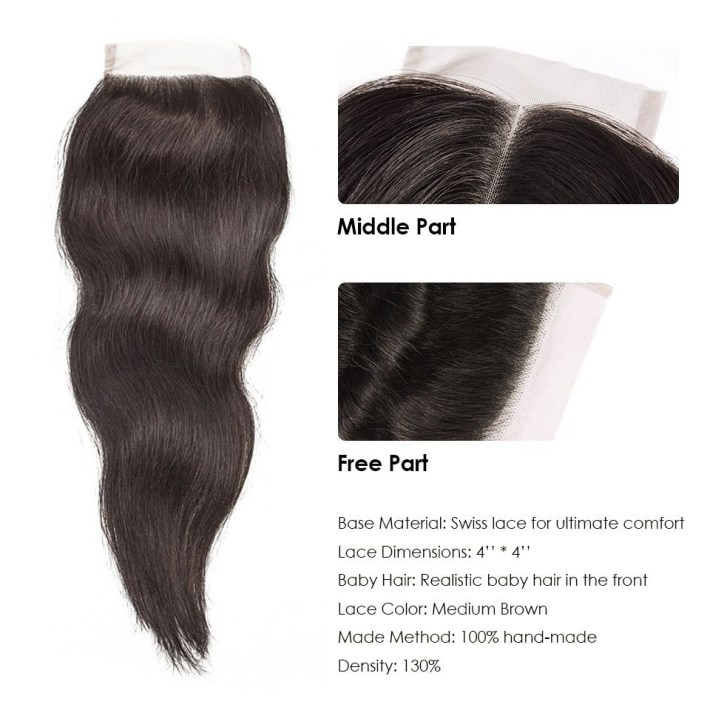 Hj Weave Beauty Bundles With Closure Natural Straight Raw Indian for Classic Indian Weave Hairstyles