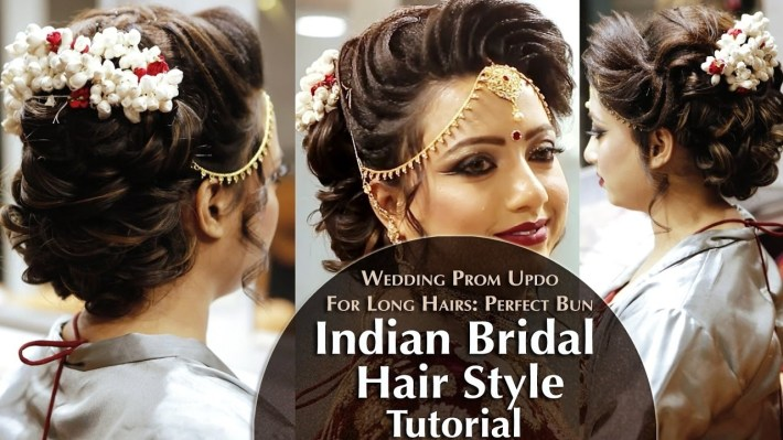 Indian Bridal Hair Style   Perfect Long Hair Bun Tutorial   Krushhh By  Konica for Bun Hairstyle For Indian Bride