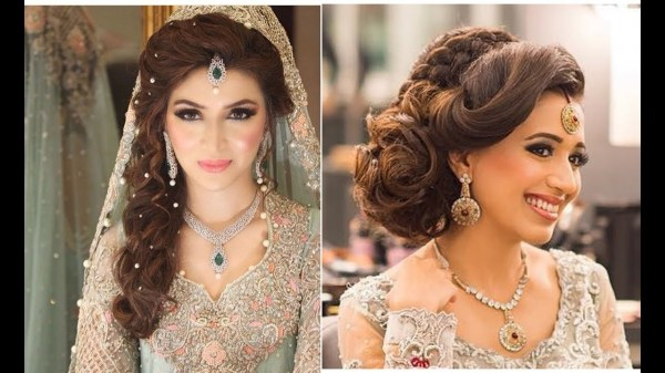 Indian Bridal Hairstyles | Bridal Hairstyles For Asian Wedding - Youtube inside Asian Indian Wedding Hairstyles