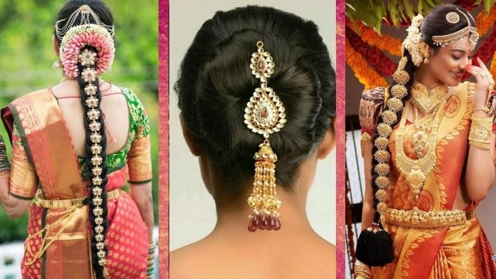 Indian Bridal Hairstyles   Wedding Hairstyles Step By Step   Bridal Bun And  Bridal Plait Hairstyles with regard to Bridal Hairstyle In Indian Style