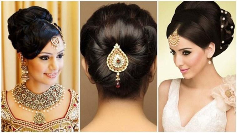 Indian Bun Hairstyles For Medium Hair   Traditional Hairstyles For Indian  Wedding within Bun Hair Style For Indian Wedding