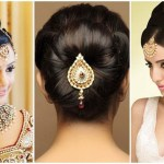 Indian Bun Hairstyles For Medium Hair | Traditional Hairstyles For Indian  Wedding within Bun Hair Style For Indian Wedding