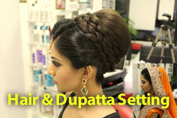 Indian, Pakistani, Asian Bridal Hair Style   Tikka & Dupatta Setting intended for Top-drawer Asian Hairstyles For Wedding Party