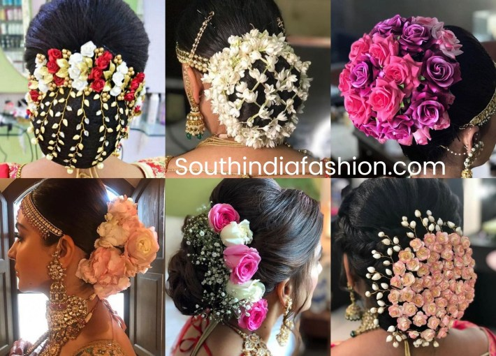 Indian Wedding Bun Hairstyle With Flowers And Gajra! | •hair• <3 with Bun Hairstyle For Indian Marriage