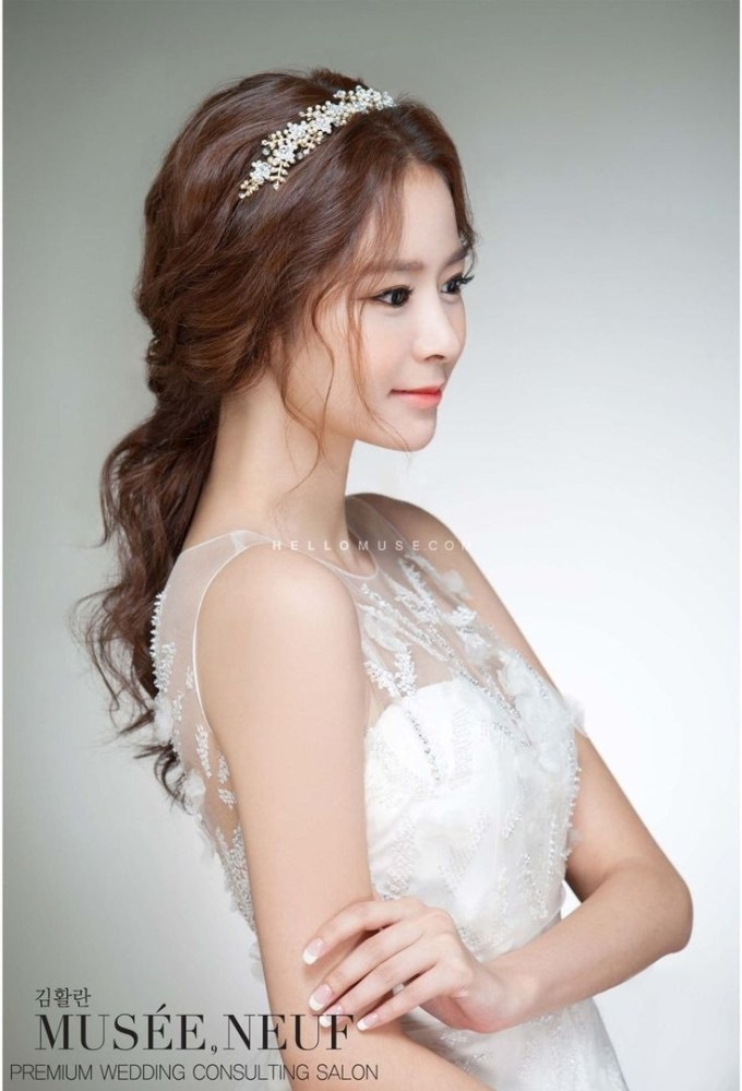 Korean Bridal Hairstyle, Korean Wedding Hairstyle, Wedding inside Asian Wedding Hairstyles For Medium Hair
