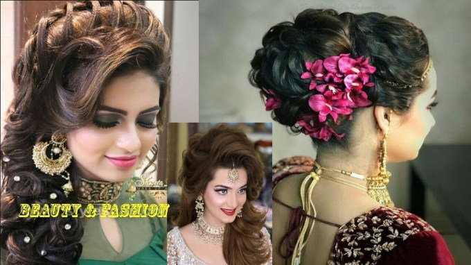 Latest Asian Party Wedding Hairstyles 2018 |Beauty & Fashion - Youtube pertaining to Asian Wedding Party Hairstyles