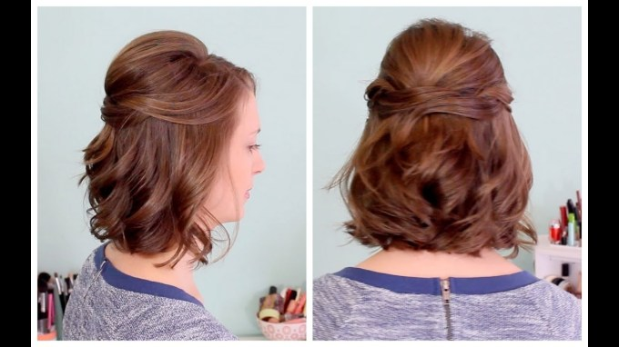 Quick Half Up Hairstyle For Short Hair - Youtube regarding Asian Half Up Hairstyles