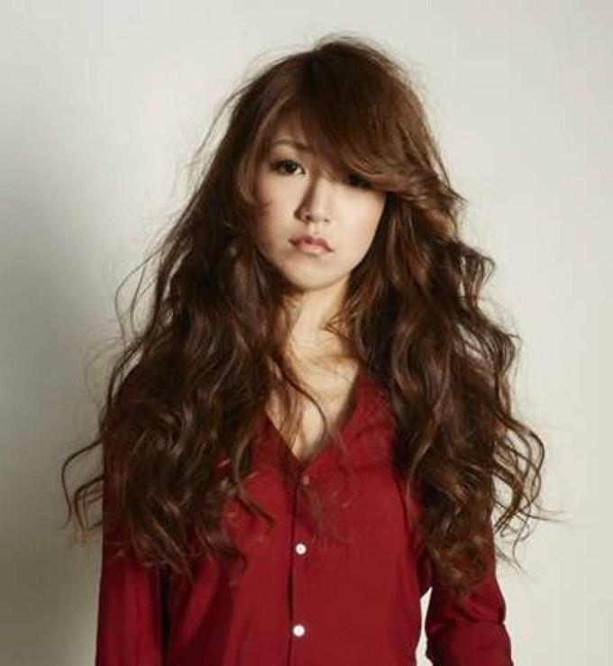 Short Hair Curls Korean Style Asian Long Curly Hairstyles, Big No throughout Top-drawer Asian Long Curly Hairstyles