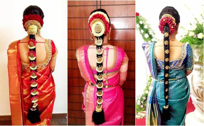 South Indian Bridal Hairstyle With Flowers For Wedding Glamour regarding Bridal Hairstyle In Indian Style