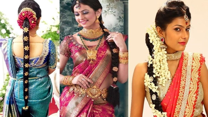 South Indian Bridal Hairstyles Step By Step   Bridal Hairstyles For  Weddings & Reception   within Bridal Hairstyles For Long Hair South Indian