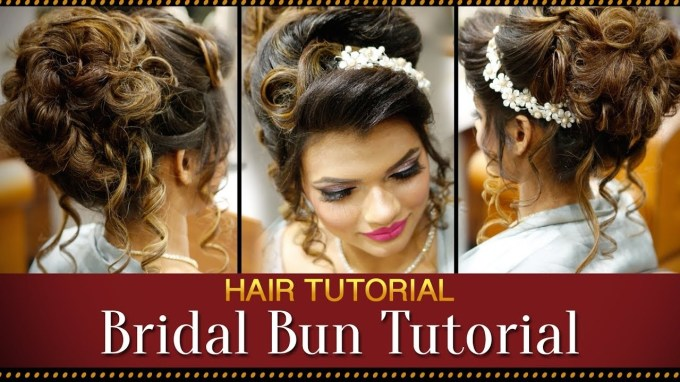 Step By Step Indian Bridal Bun Hairstyle Tutorial Video | Bridal intended for Superb Asian Indian Wedding Hairstyles