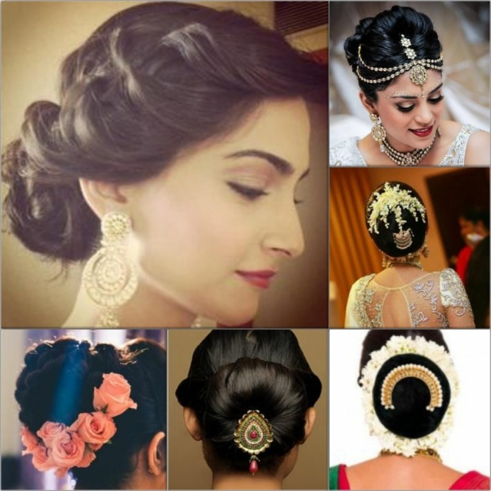 Top 5 Hairstyles For An Indian Wedding intended for Bun Hairstyle For Indian Marriage