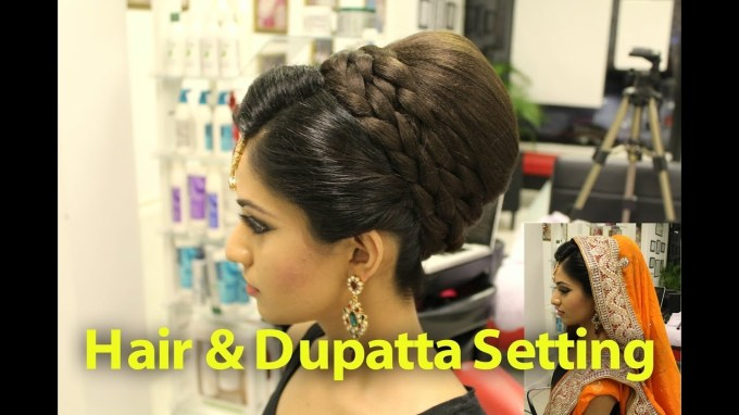 Tutorial: Indian, Pakistani, Asian Bridal Hair Style - Youtube for The best Latest Asian Bridal Hairstyles
