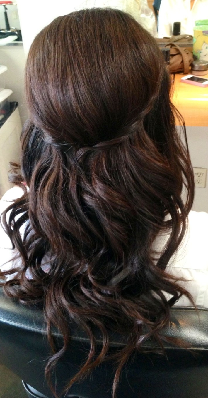 Wedding Updo, Wedding Hair, Bridal Hair, Curls, Half Up Half Down pertaining to The greatest Asian Half Up Hairstyles