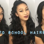 3 Back To School Hairstyles (Using Only 1 Hair Tie) || Thatssoyin intended for Hairstyles With 1 Tie