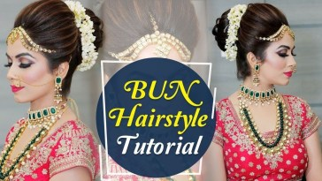 Bun Hairstyle Tutorial | Step By Step Indian Bridal regarding Indian Wedding Hairstyle Step By Step