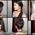 Everyday Quick Easy Hairstyles// Indian Hairstyles For Medium/long Hair For  School/college/work within Daily Indian Hairstyles For Long Hair