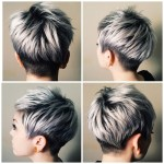 The Silver Journey | Silver/platinum Hair Color | Short Hair regarding Short Weave Gray Highlights Fade Hairstyles