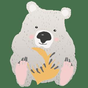 wombat con corazón mostaza