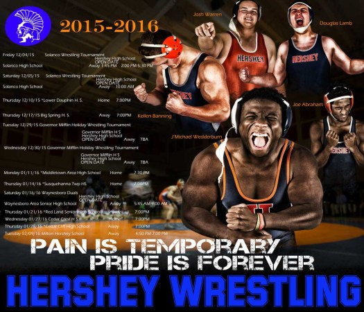college wrestling poster; D1 wrestling poster; college wrestling, high school wrestling; Hershey Wrestling; waxman photography;