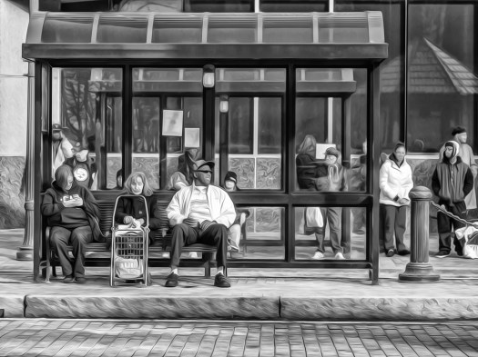 scenes at the bus stop act 30