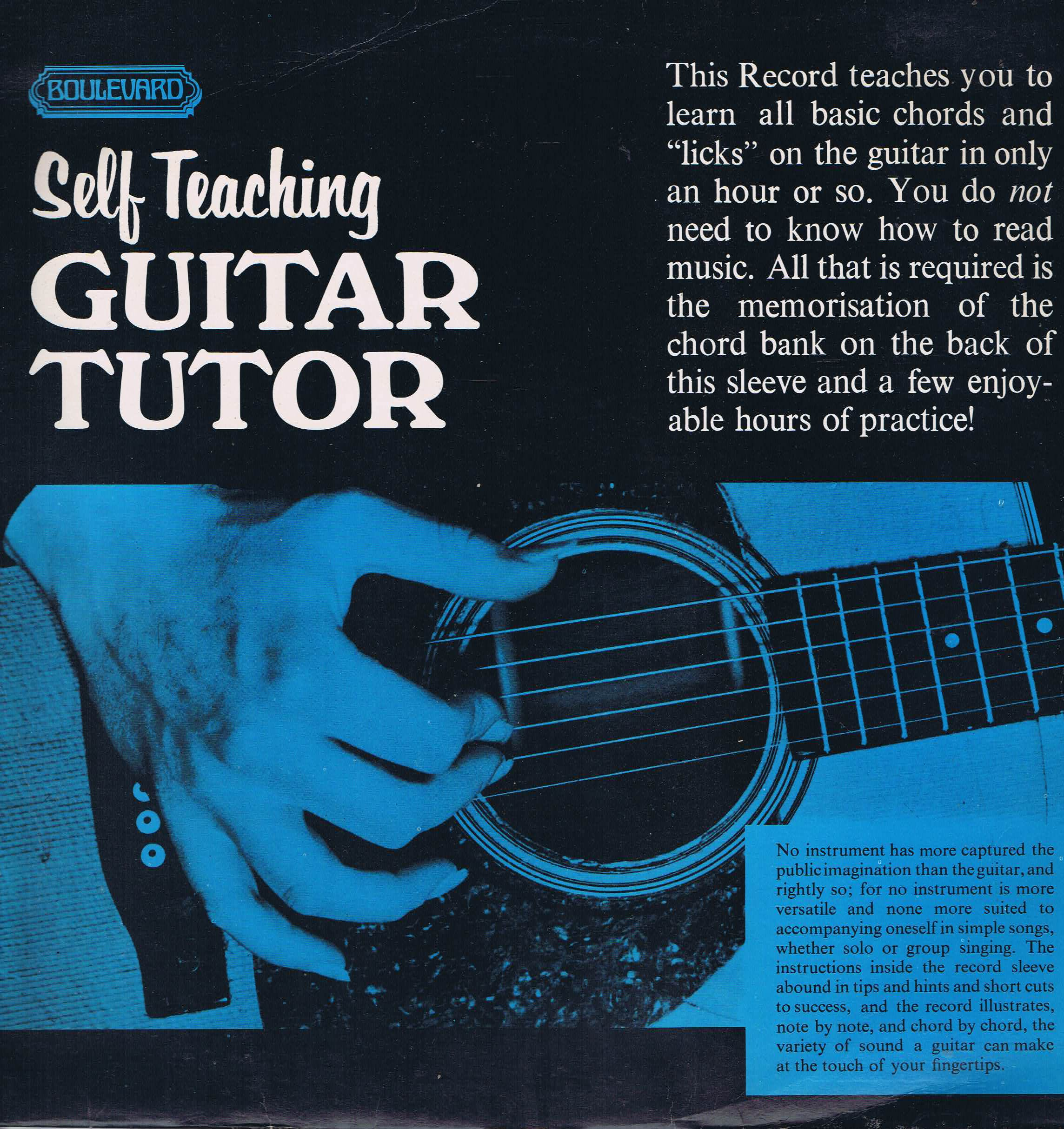John Pearse Self Teaching Guitar Tutor Boulevard 4119 Lp Vinyl