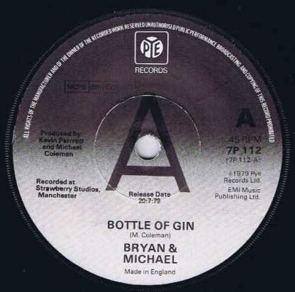 Bryan & Michael – Bottle Of Gin - 7P 112 - Promo - 7-inch Vinyl Record