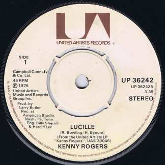 Kenny Rogers – Lucille - UP 36242 - 7-inch Vinyl Record