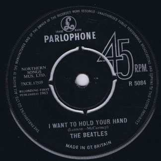 The Beatles – I Want To Hold Your Hand – Parlophone R 5084 - 7-inch Record