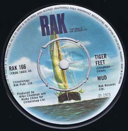 Mud – Tiger Feet - RAK 166 - 7-inch Vinyl Record