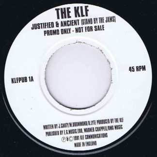 The KLF - Justified & Ancient - KLFPUB 1 - Promo - 7-inch Vinyl Record