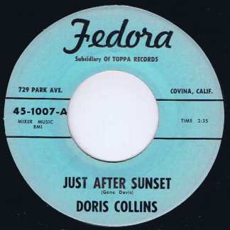 Doris Collins - Just After Sunset - Fedora 45-1007 - 7-inch Vinyl Record