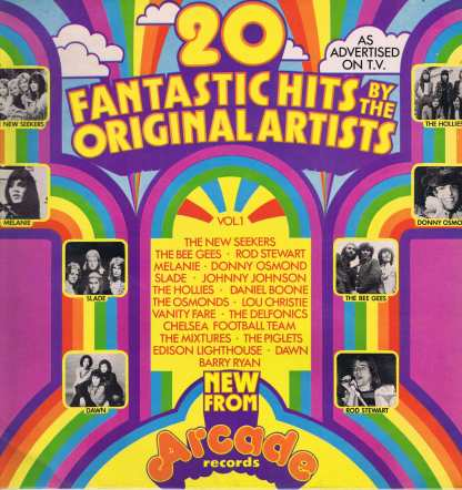 20 Fantastic Hits By The Original Artists Volume One - 2891 001 - LP Vinyl Record