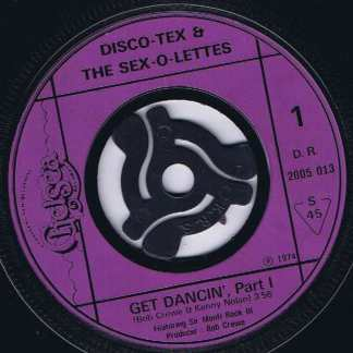 Disco Tex And His Sex-O-Lettes – Get Dancin' Part 1 & 2 - 7-inch Vinyl Record