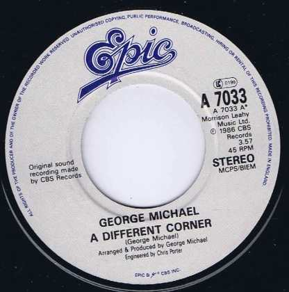 George Michael - A Different Corner - A 7033 - 7-inch Vinyl Record