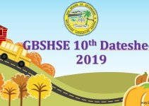 Goa Board 10th Date Sheet 2019