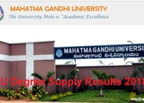 MGU Degree Supply Results 2018