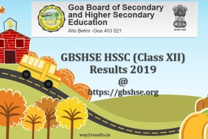 Goa Board 12th Std Result 2019 | GBSHSE HSSC Result 2019