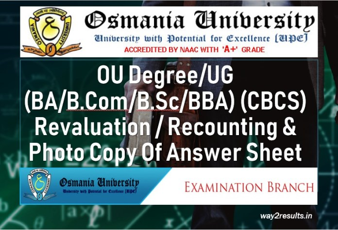 OU Degree Recounting Revaluation Application Dates