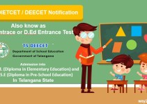 TS DEECET DIETCET Notification 2019