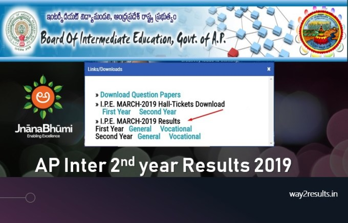 AP Inter 2nd Year Results 2019 - General and Vocational