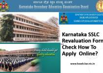Karnataka SSLC Revaluation Form - Check How to Apply