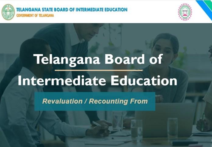 TS Inter Revaluation 2019 Apply Online, Fee Dates @ tsbie.cgg.gov.in