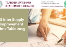 TS Inter Supply Improvement Time Table 2019 - Check Exam Dates